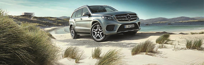 Mercedes-Benz GLS on the beach